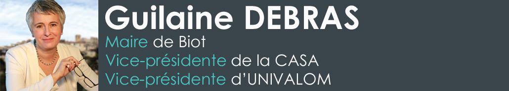 Guilaine Debras maire de Biot et vice-présidente de la CASA