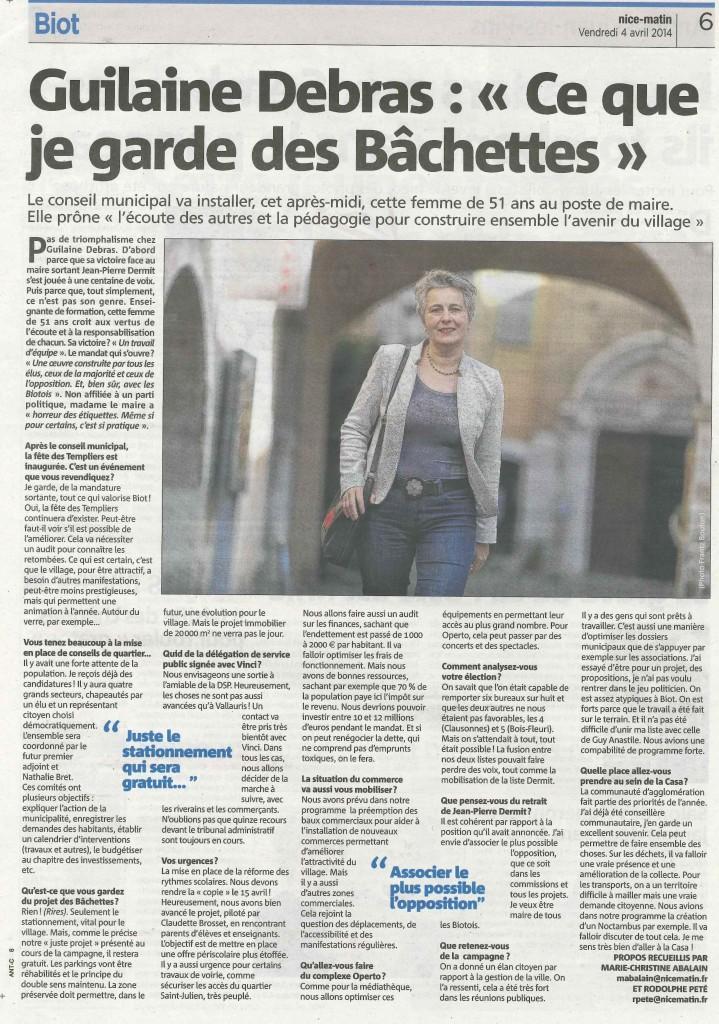 Madame Le Maire de Biot